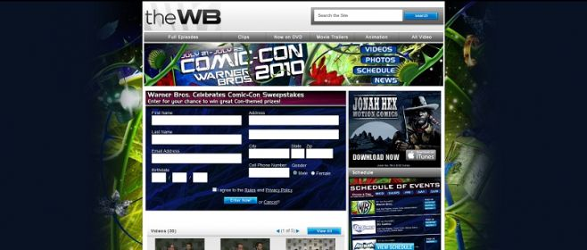 Warner Bros. Celebrates Comic-Con Sweepstakes