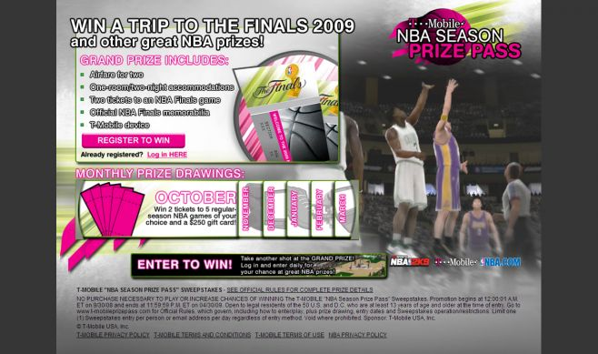 T-Mobile Season Prize Pass Sweepstakes