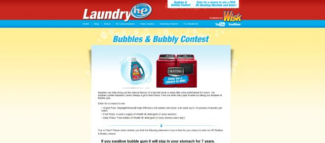 Bubbles & Bubbly Sweepstakes