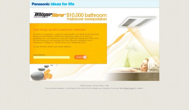 WhisperWarm $10,000 Bathroom Makeover Sweepstakes