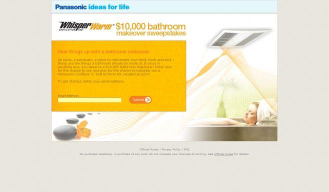 WhisperWarm $10,000 Bathroom Makeover Sweepstakes