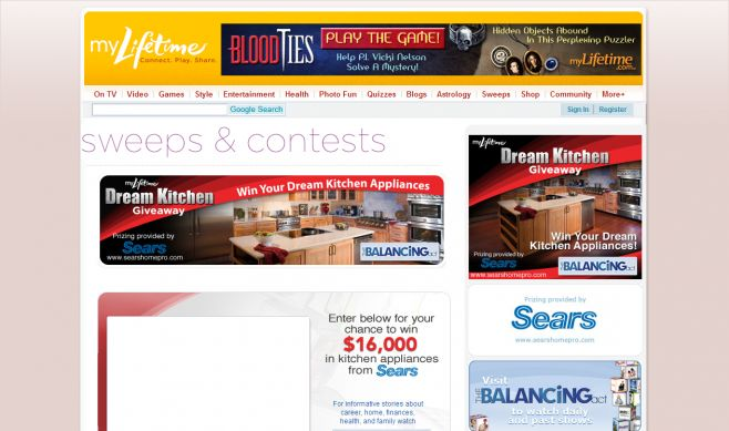 Lifetime Dream Kitchen Giveaway Sweepstakes