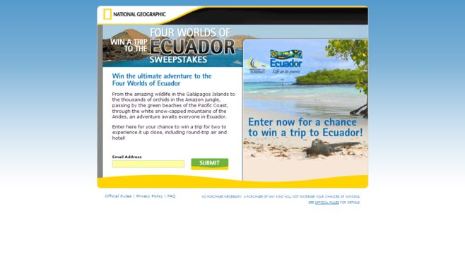 Win a Trip to the Four Worlds of Ecuador Sweepstakes