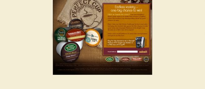 Perfect Cup Sweepstakes