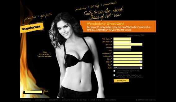 Wonderbra Shape Of Hot Bra Giveaway