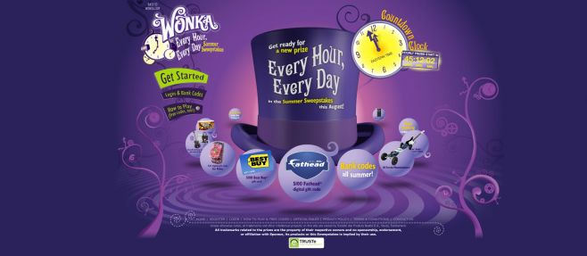 Wonka Every Hour Every Day Summer Sweepstakes
