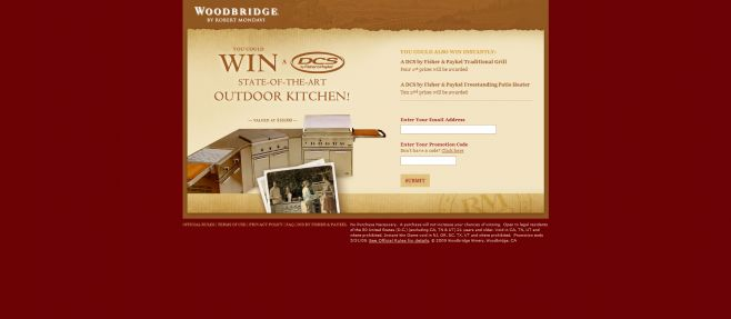 Woodbridge Win the Ultimate Outdoor Kitchen Sweepstakes and Instant Win Game
