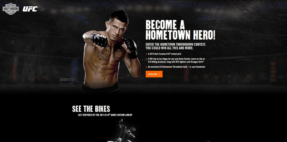 h-d.com/UFC - Harley-Davidson's Hometown Throw Down Contest