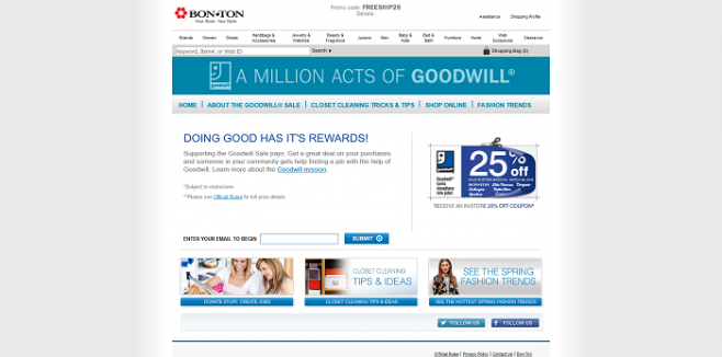 MillionActsOfGoodwill.com Instant Win Game & Sweepstakes 2016