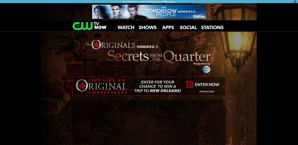 cwtv com/secrets – Live Like an Original Sweepstakes Presented by AT&T