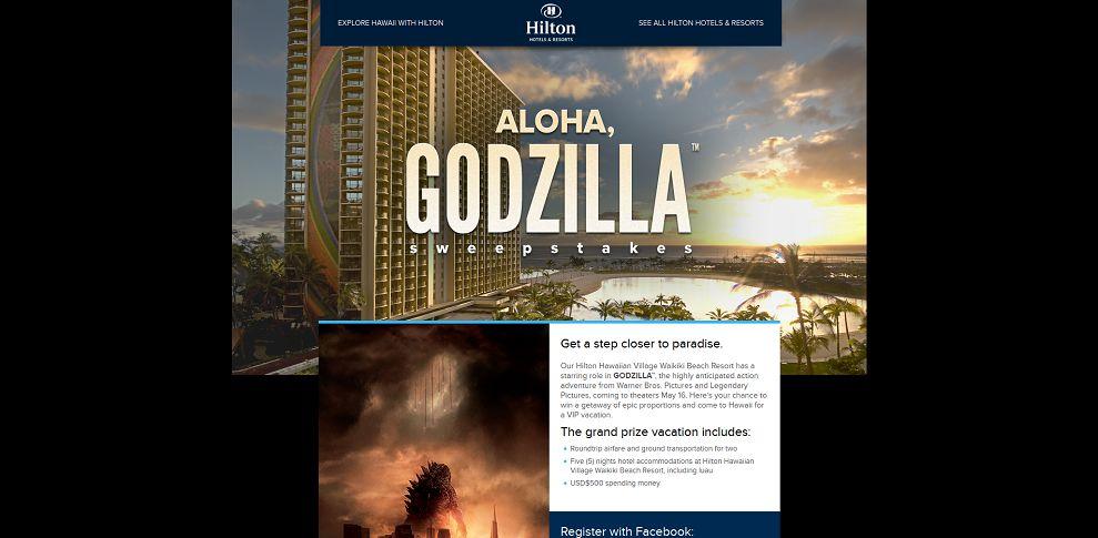 godzilla hilton com – Aloha, Godzilla Sweepstakes
