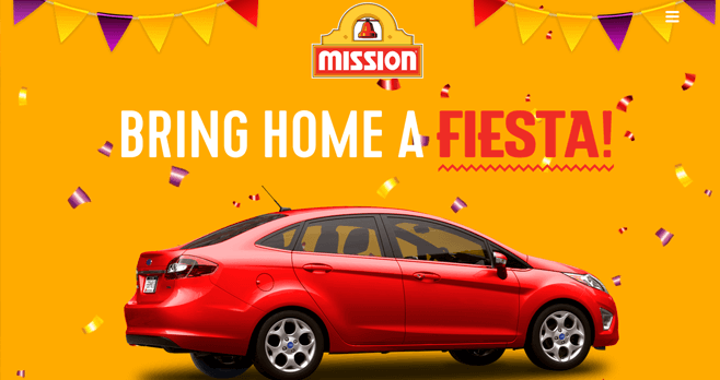 Mission Bring Home A Fiesta Sweepstakes (WinAFiesta.com)