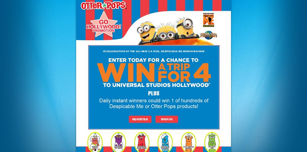 Despicable me 2 sweepstakes daily