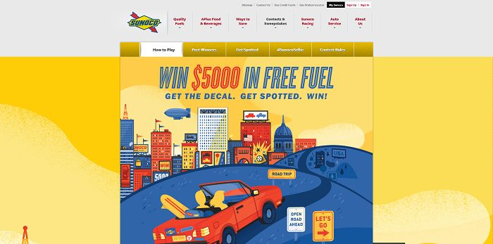 gosunoco.com/freefuel5000 - Sunoco Free Fuel 5000 Sweepstakes