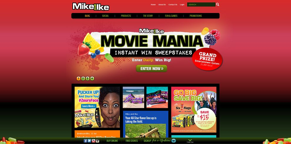 mike and mike sweepstakes mike and ike movie mania sweepstakes enter daily win big 8261