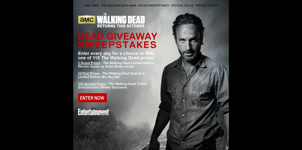 walking dead amc sweepstakes amc s the walking dead dead giveaway sweepstakes 115 the 3348