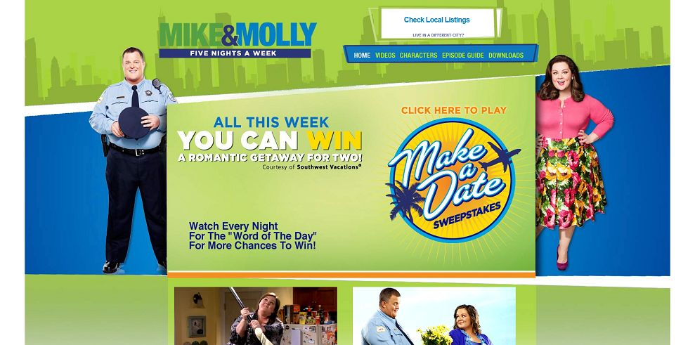 mike and mike sweepstakes mikeandmollyweeknights com mike molly make a date 5184