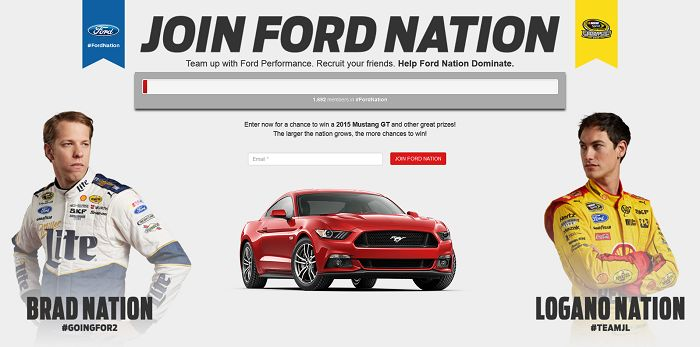 JoinFordNation.com - Ford Nation Sweepstakes