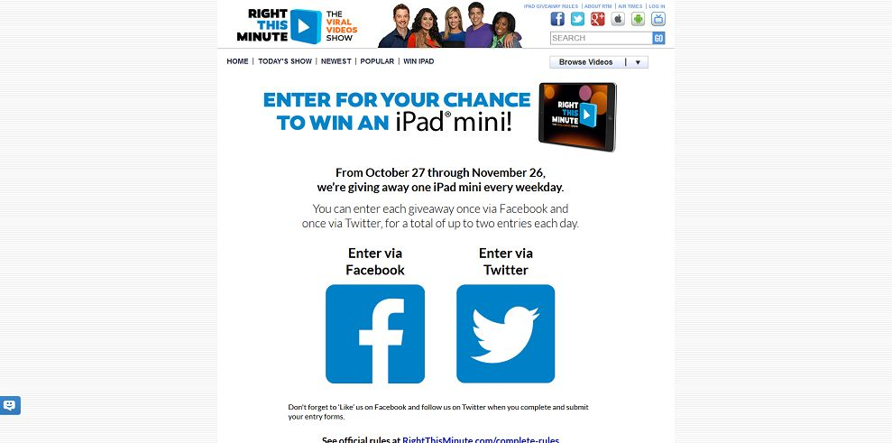 rightthisminute com ipad giveaway rightthisminute ipad mini giveaway buzzword needed 23 9321