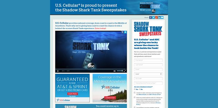ShadowSharkTank.com - Shadow Shark Tank Sweepstakes