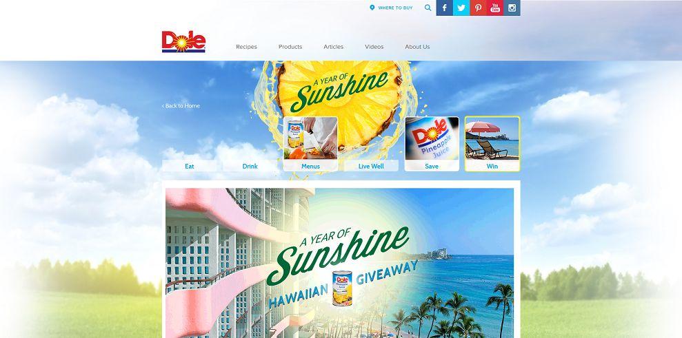 Dole A Year of Sunshine Hawaiian Giveaway