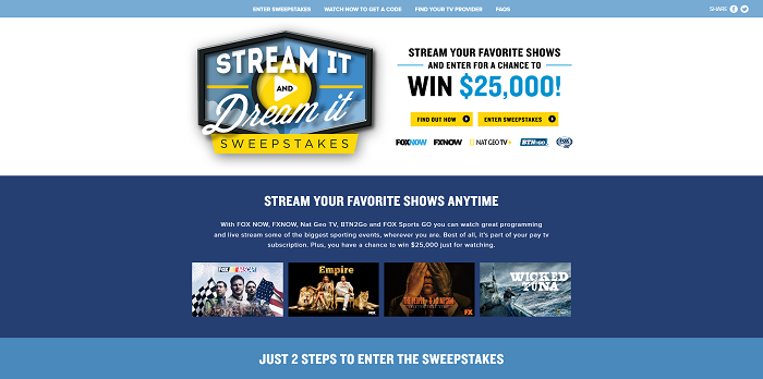 StreamItAndDreamIt.com - 2016 Stream It and Dream It Sweepstakes