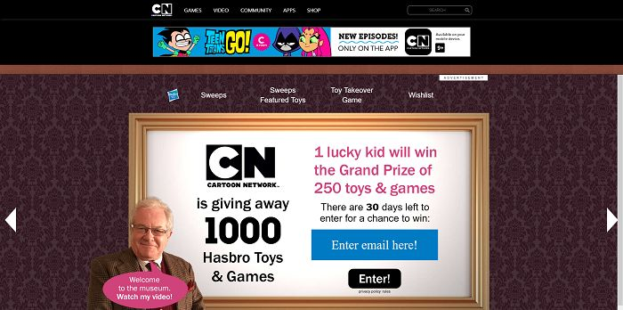 cartoonnetwork com win cartoon network hasbro holiday sweepstakes 2015