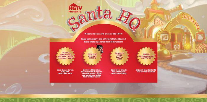 HGTV's Spreading Holiday Cheer Sweepstakes (Santa-HQ.com/Win)