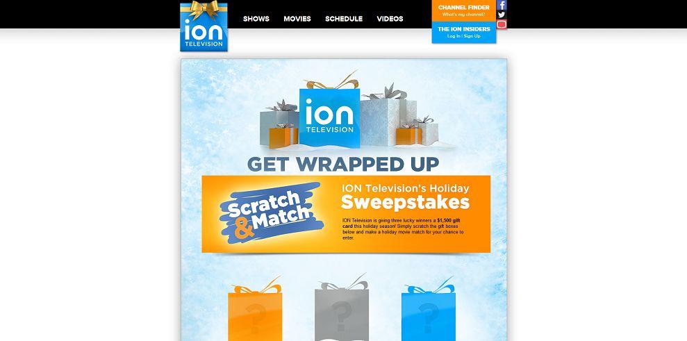 Ion tv christmas sweepstakes