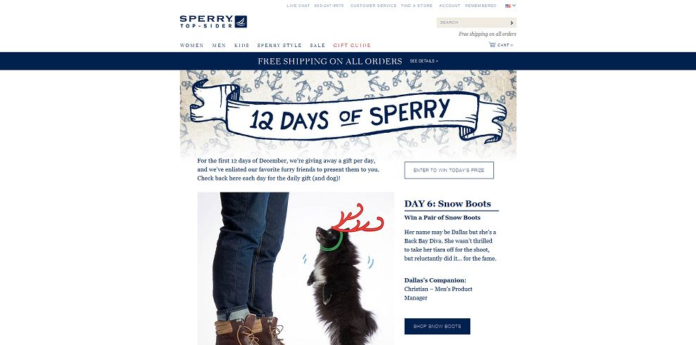Sperry Top-Sider 12 Days Giveaway