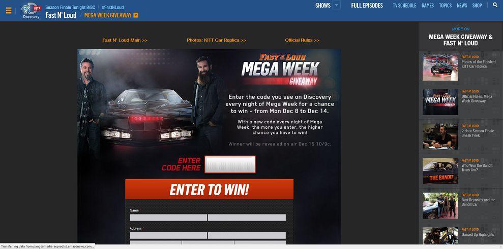 Fast N' Loud Mega Week Giveaway (Code Word) - FastNLoudGiveaway.com