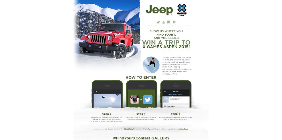 Jeep X Games Aspen 2015 #FindYourXContest (jeepfindyourx.com)