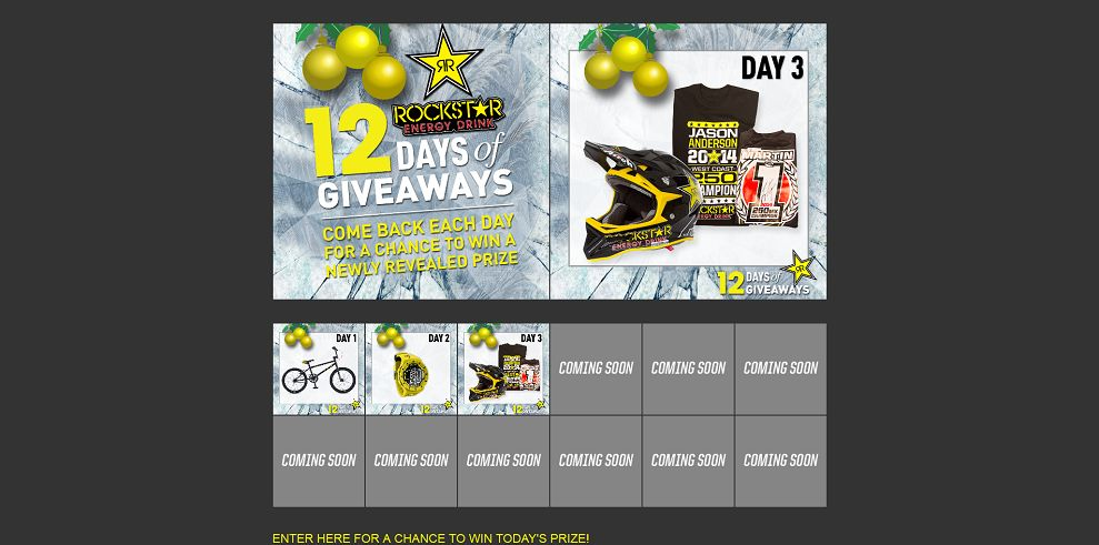 Rockstar 12 Days of Giveaways Sweepstakes