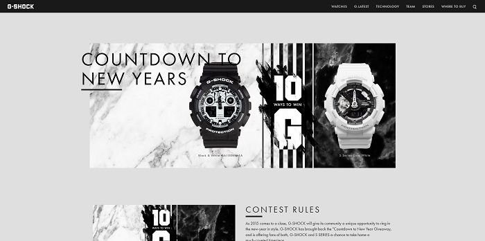 G-Shock Countdown to 2016 Sweepstakes