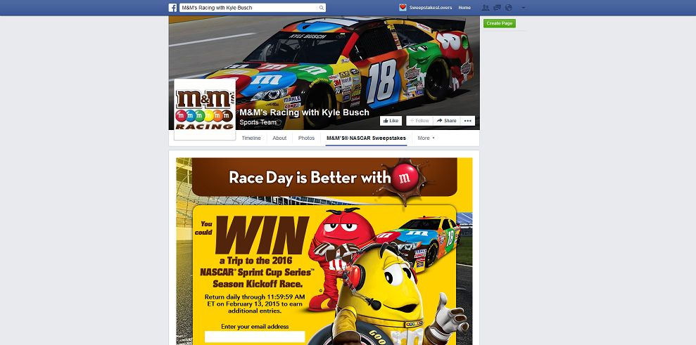 M&M'S Brand 2015 Season Kickoff Sweepstakes