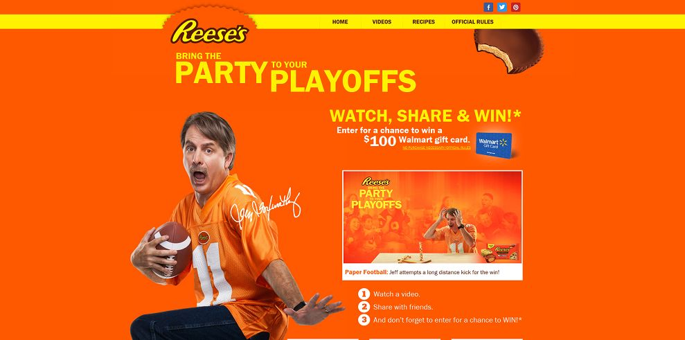 REESE'S Bring the Party to Your Playoffs Sweepstakes (reesesplayoffparty.com)