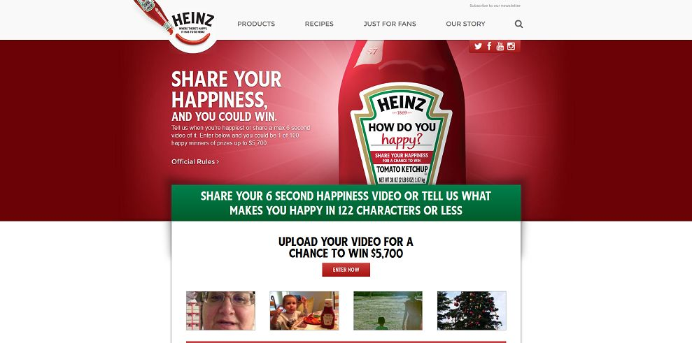 Heinz Ketchup How Do You Happy Contest - HowDoYouHappy.com