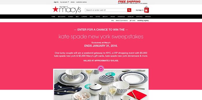 Macys.com/KateSpadeSweeps - Macy's Kate Spade New York Sweepstakes