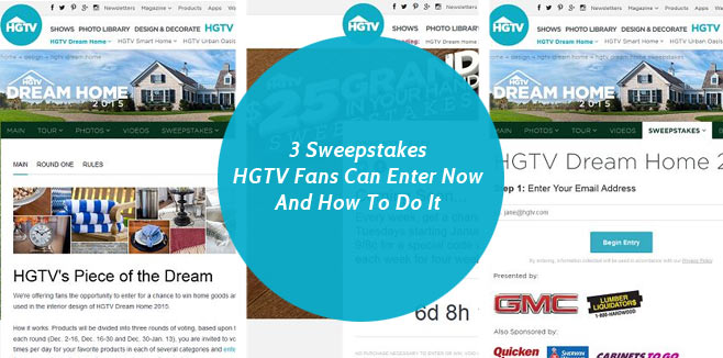 hgtv 50000 sweepstakes 3 sweepstakes hgtv fans can enter now and how to do it 6992