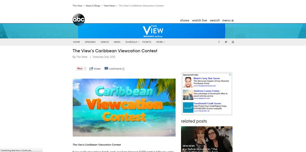 The View's Caribbean Viewcation Contest