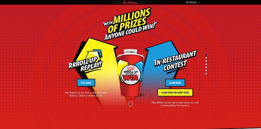RRRoll Up The Rim To Win Replay Contest (rolluptherimtowin.com)