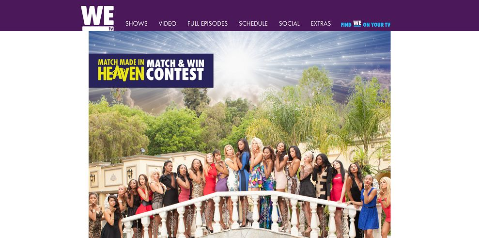 WEtv Match Made in Heaven Match And Win Contest