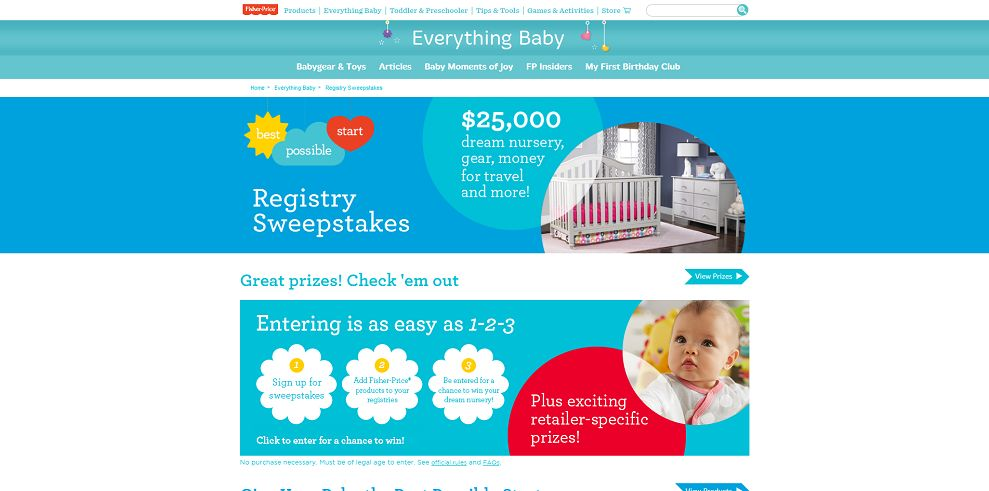 Fisher-Price 2015 Best Possible Start Registry Sweepstakes
