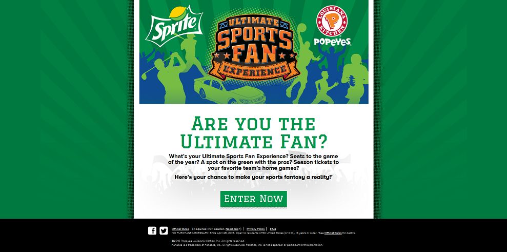 Sprite And Popeyes Ultimate Sports Fan Experience (UltimateSportsX.com)