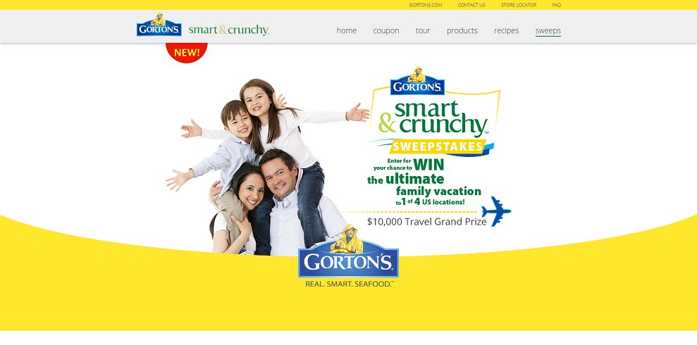 Gorton's Smart And Crunchy Sweepstakes