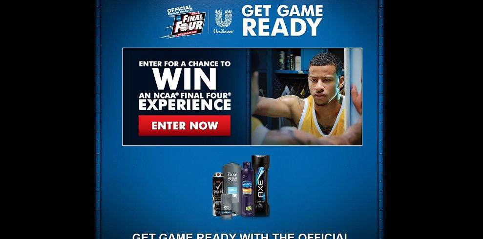 Unilever Get Game Ready Sweepstakes