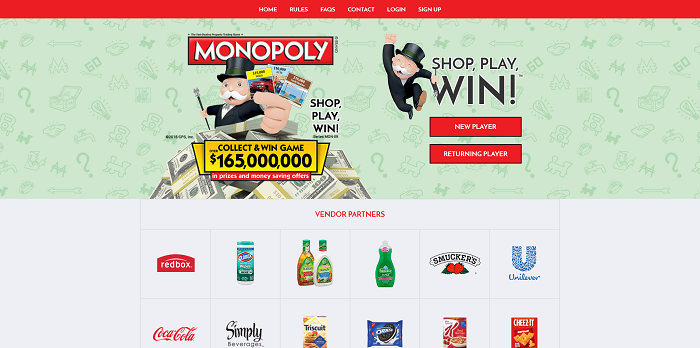 Albertsons Monopoly Collect and Win Game 2016 (PlayMonopoly.us)