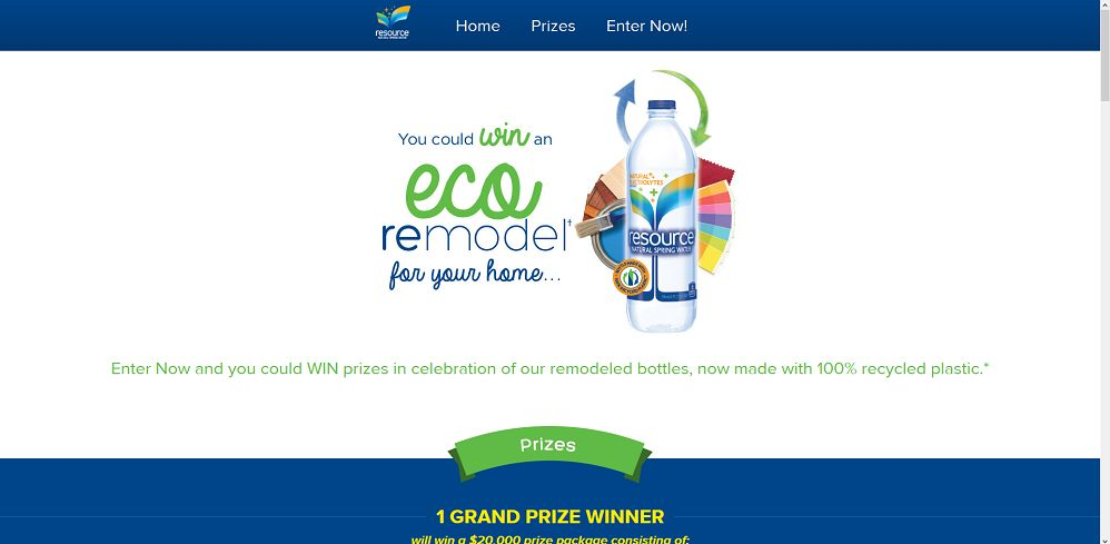 resource Natural Spring Water Sweepstakes