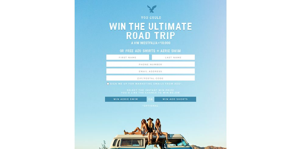 2015 AEO & Aerie Spring Try-On Event Promotion