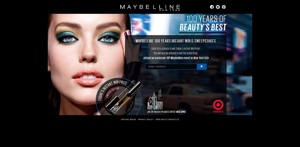 Maybelline 100 Years Promotion (maybellinenysweeps.com)